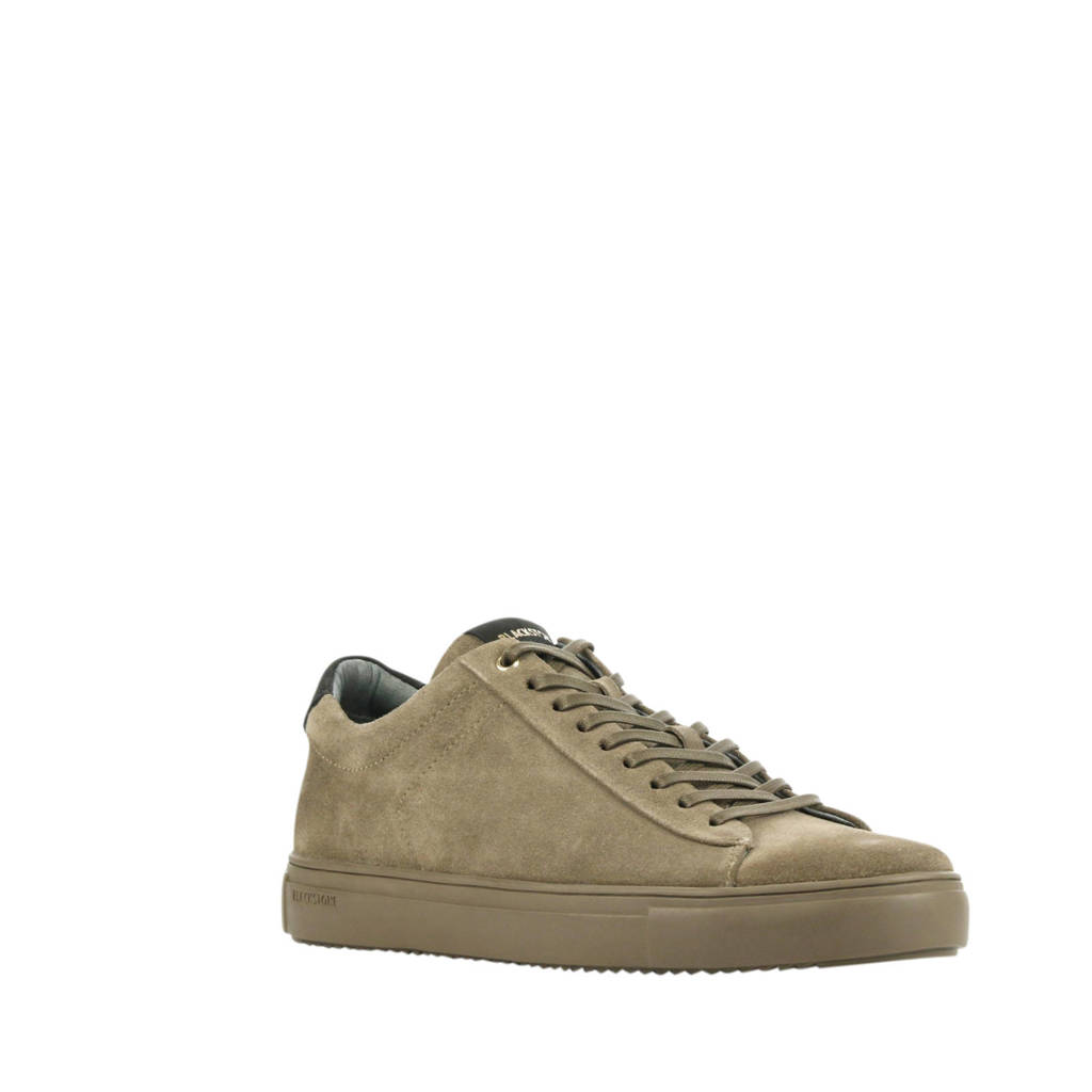 Blackstone SG20  suède sneakers taupe, Taupe/Lichtbruin