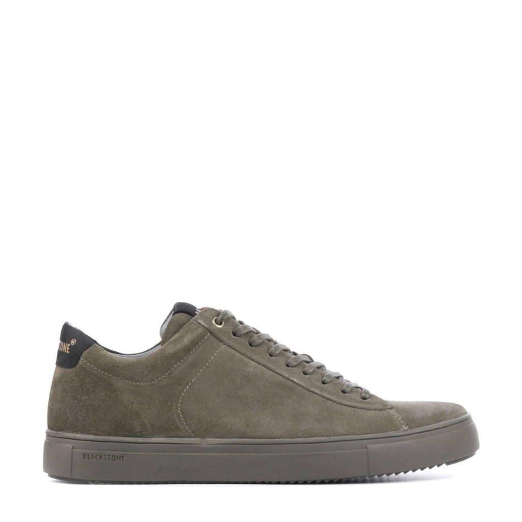 Blackstone SG20  suède sneakers kaki, Kaki/groen