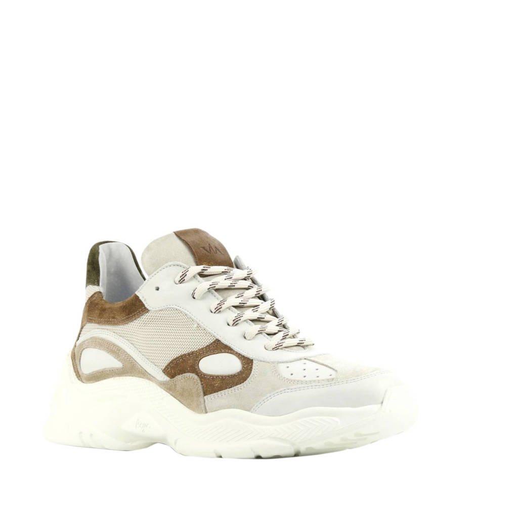 Via Vai 5306092  leren chunky sneakers beige, Beige/bruin