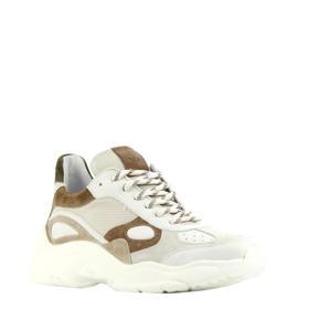 5306092  leren chunky sneakers beige