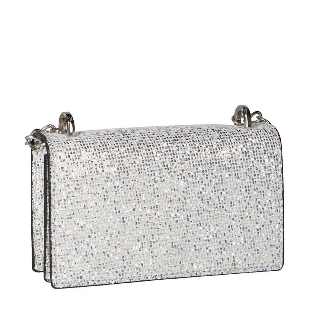 Sacha  schoudertas met glitters zilver, Zilver