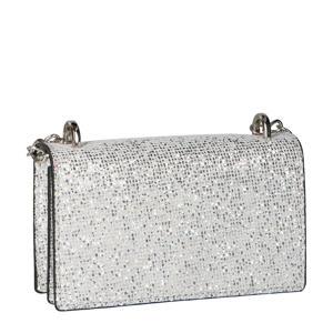 schoudertas met glitters zilver
