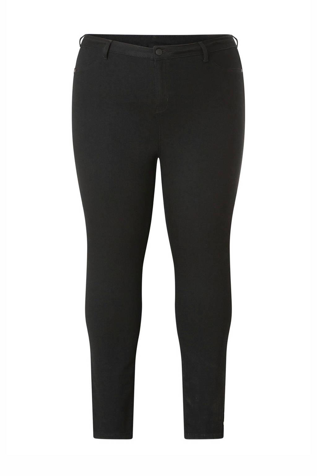 Yesta skinny jeans Faya zwart, Zwart