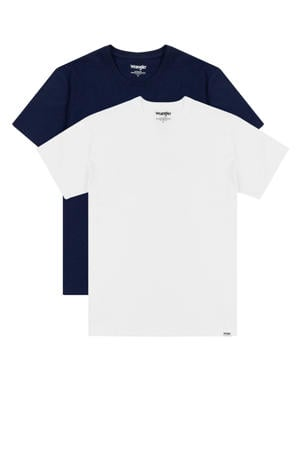 T-shirt (set van 2) donkerblauw/wit