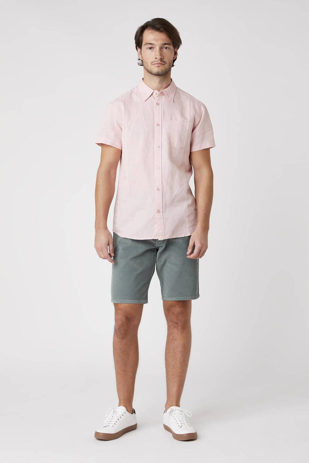 Wrangler regular fit overhemd lichtroze, Lichtroze