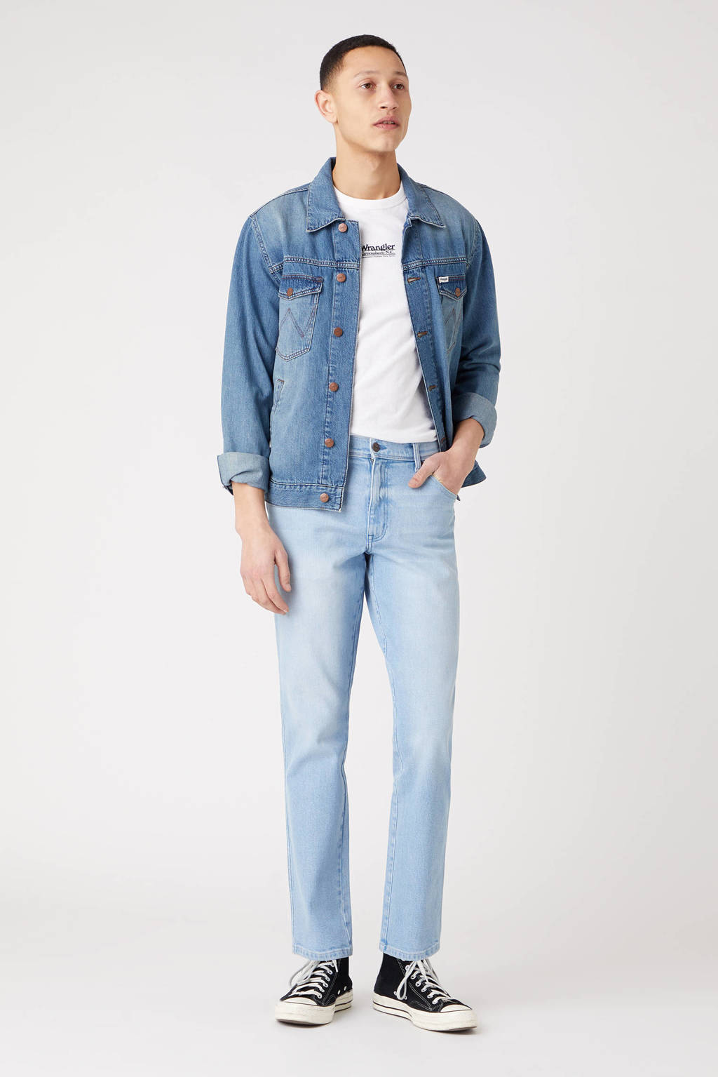 Wrangler slim fit jeans Texas clear blue, Clear Blue