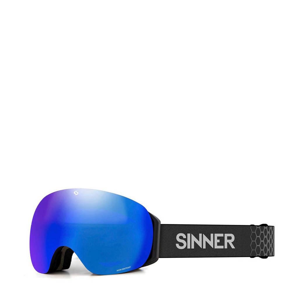 Sinner skibril Avon mat zwart, Mat zwart