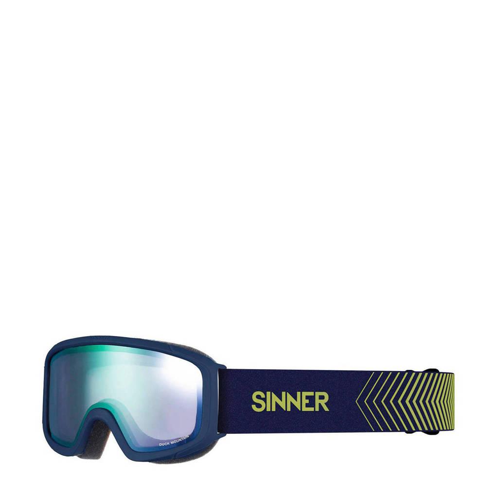 Sinner Jongens/meisjes skibril Duck Mountain mat blauw, Mat blauw