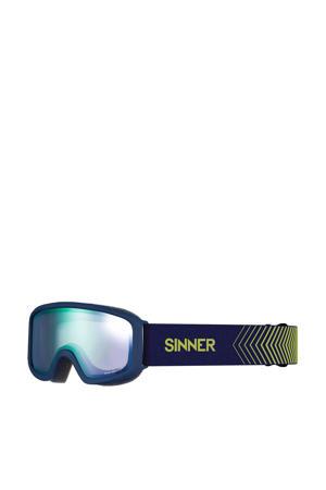 Jongens/meisjes skibril Duck Mountain mat blauw