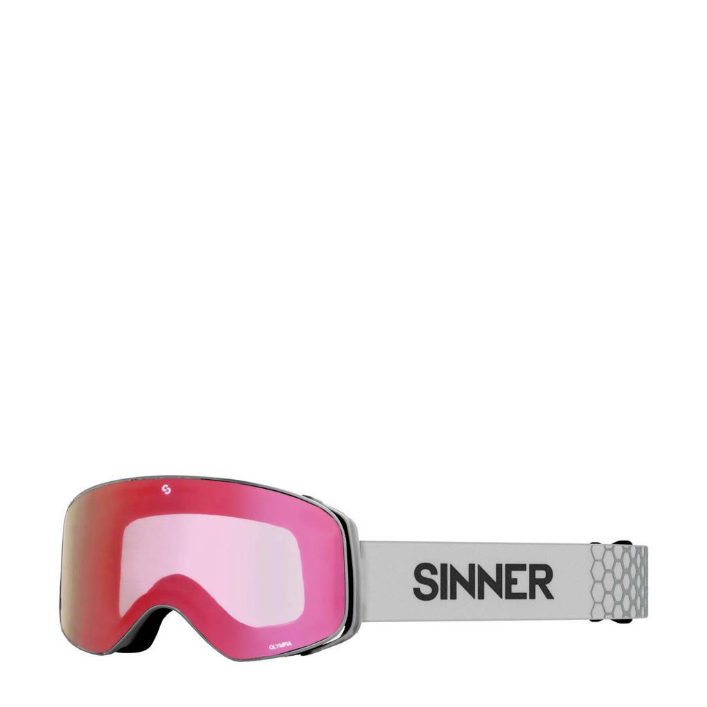 Sinner skibril Olympia mat lichtgrijs