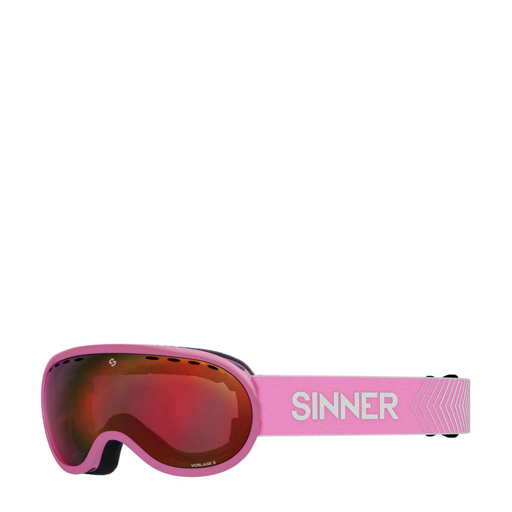 Sinner skibril Vorlage S mat roze, Mat roze