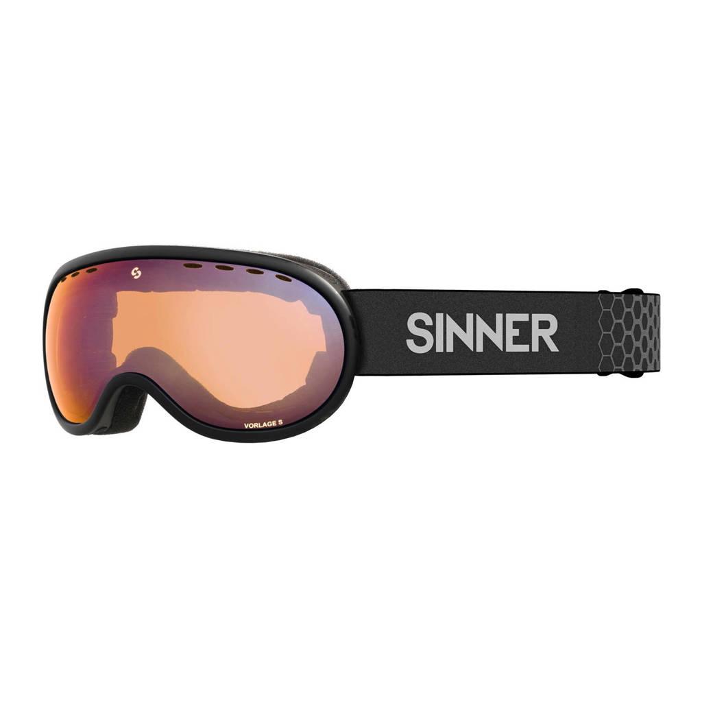 Sinner skibril Vorlage S mat zwart, Mat zwart