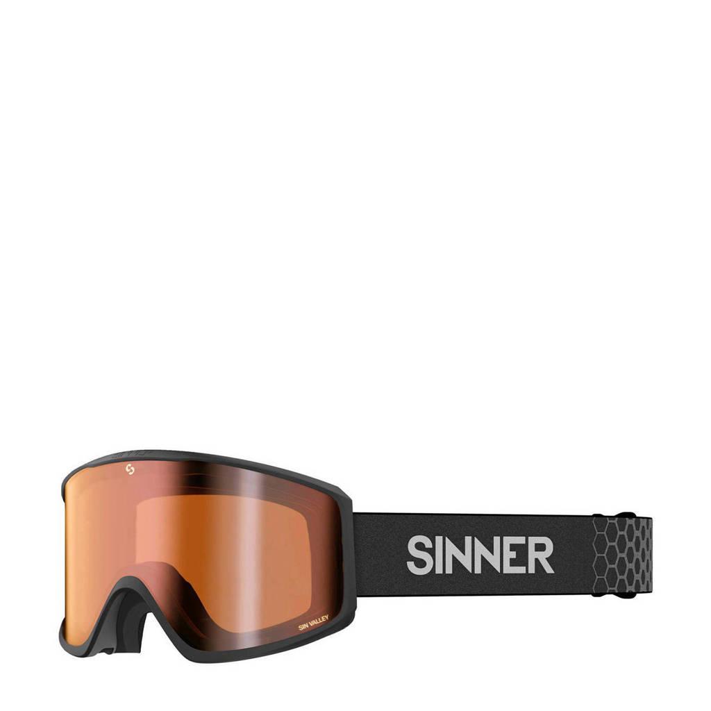 Sinner skibril Sin Valley mat zwart, Mat zwart