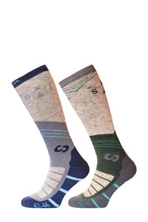 ski sokken Mountain Socks multicolor (set van 2 paar)