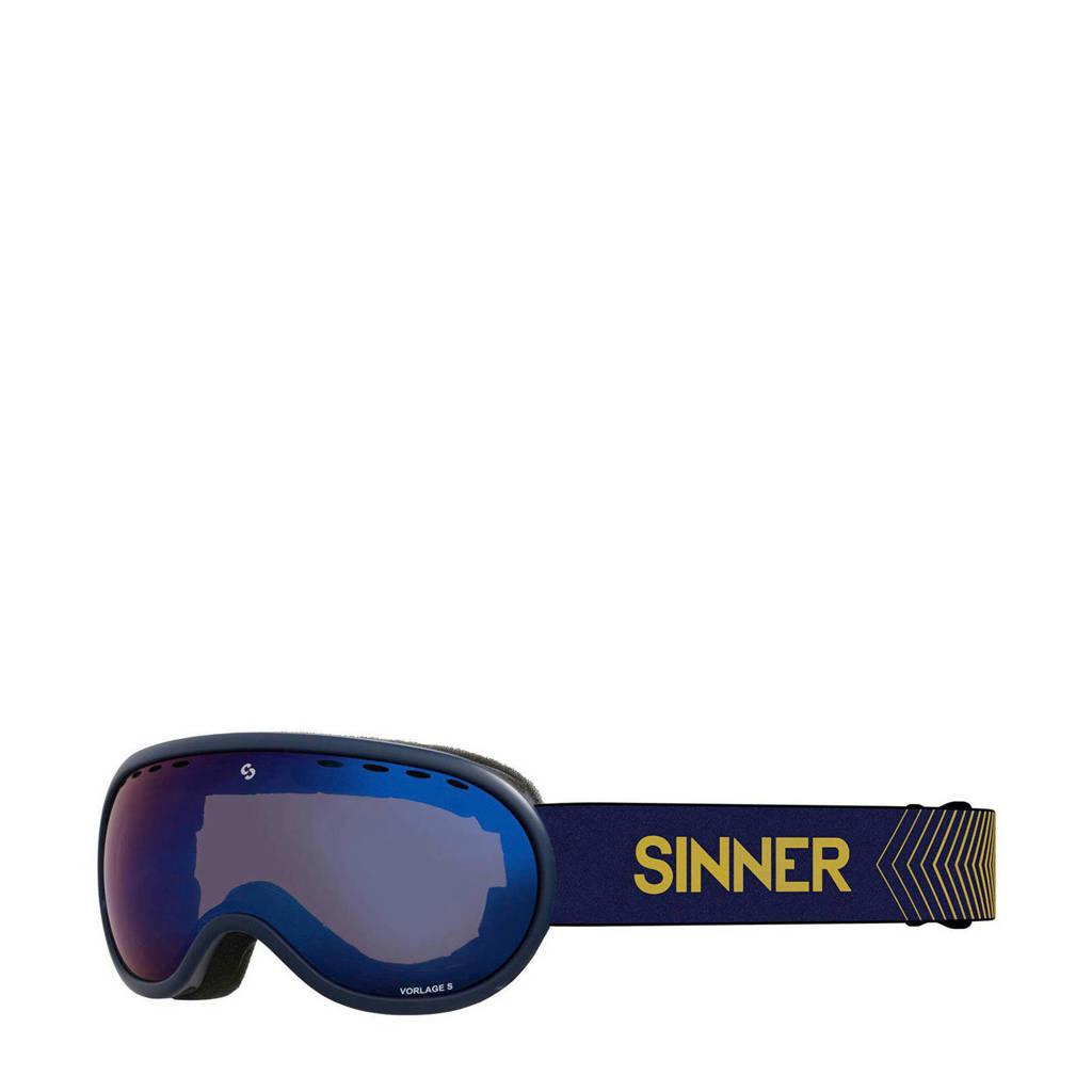 Sinner skibril Vorlage S mat blauw, Mat blauw