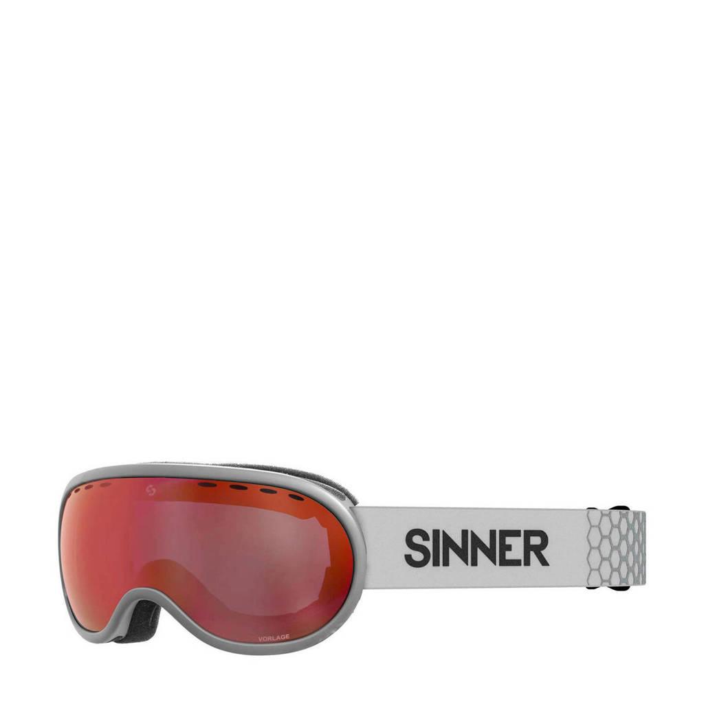 Sinner skibril Vorlage OTG mat lichtgrijs