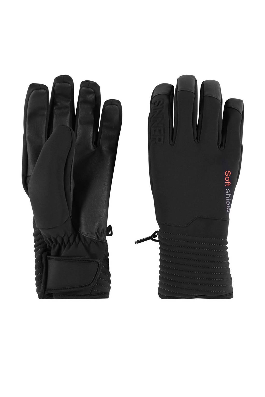 Sinner skihandschoenen Ski Mont zwart, Zwart