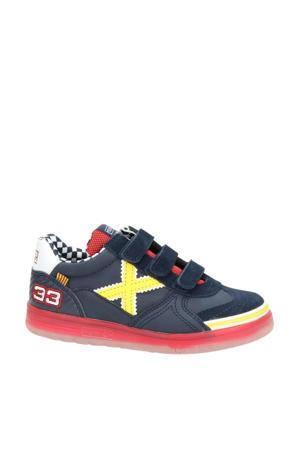 nubuck sneakers blauw/geel