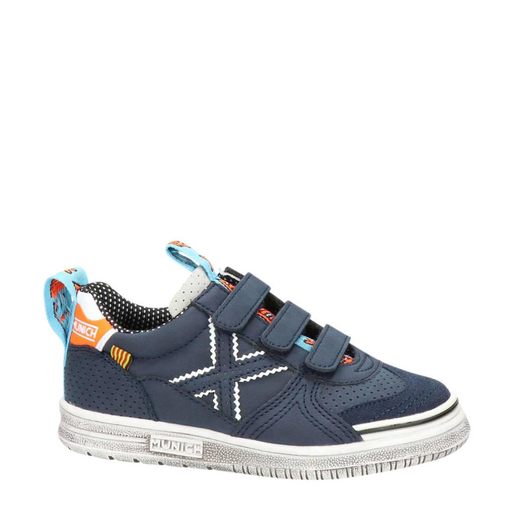 Munich   nubuck sneakers blauw, Blauw/multi
