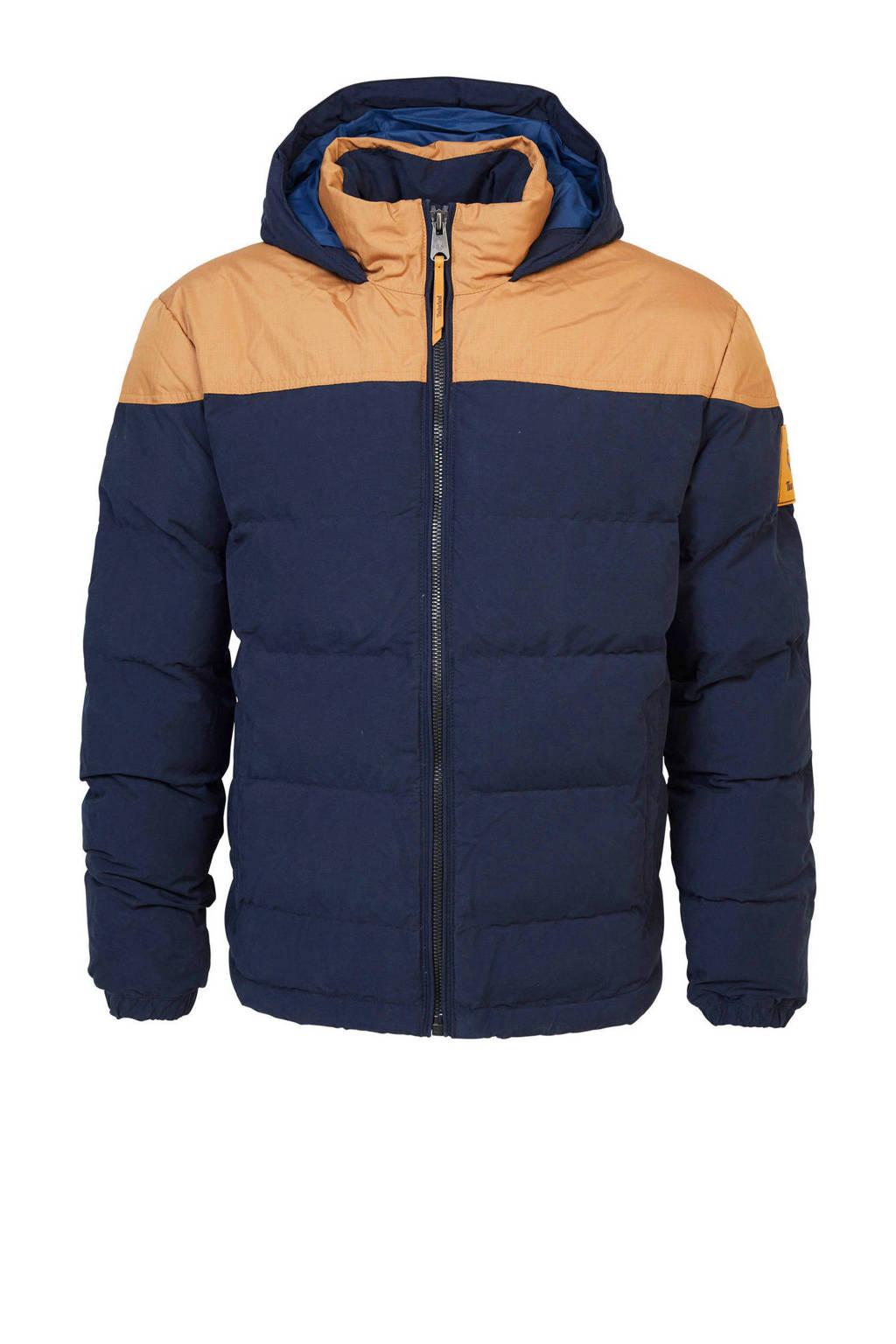 Timberland jas donkerblauw/beige, Donkerblauw/Beige
