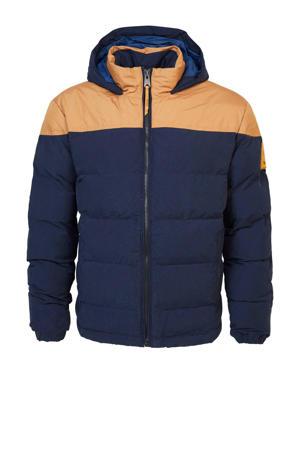 jas donkerblauw/beige