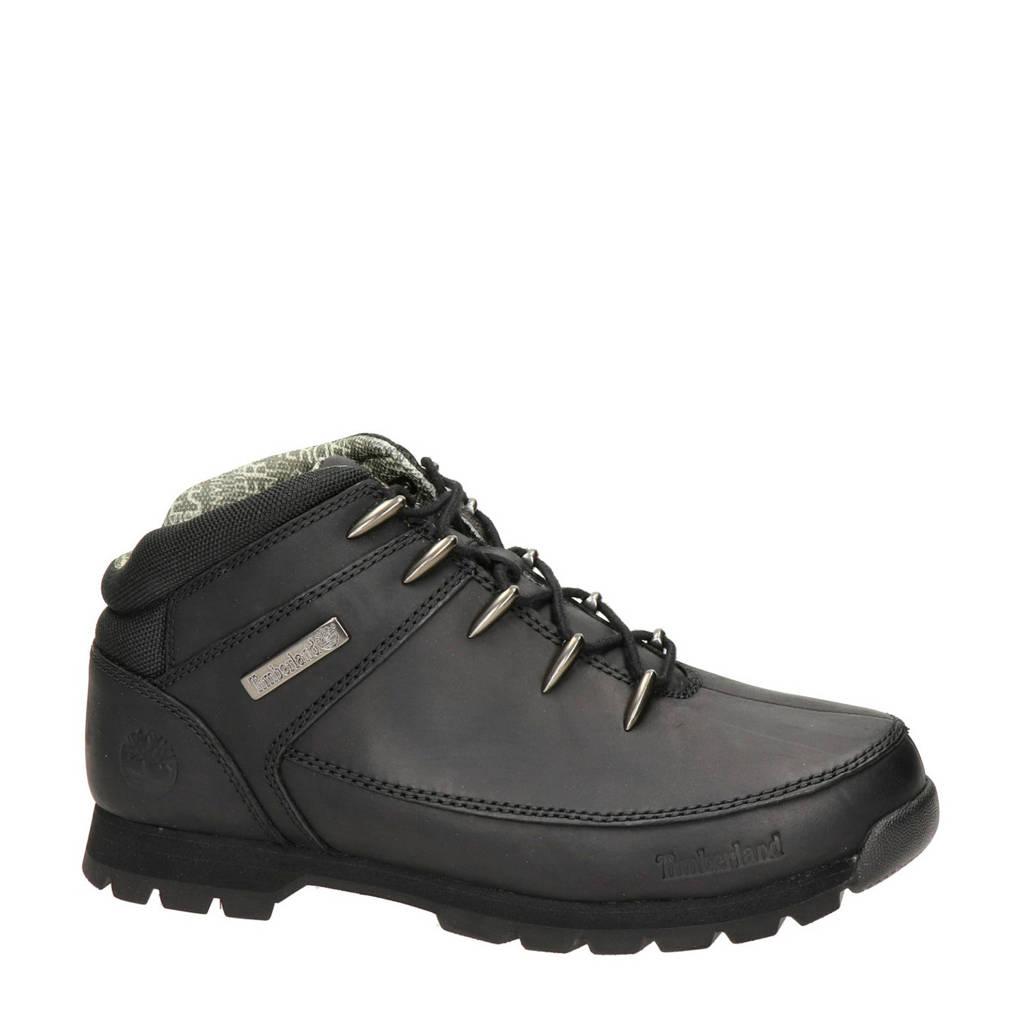 Timberland Euro Sprint Hiker  leren wandelschoenen zwart, Zwart