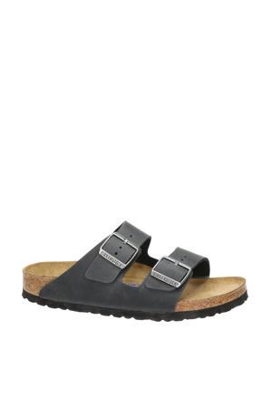 Arizona  nubuck slippers zwart
