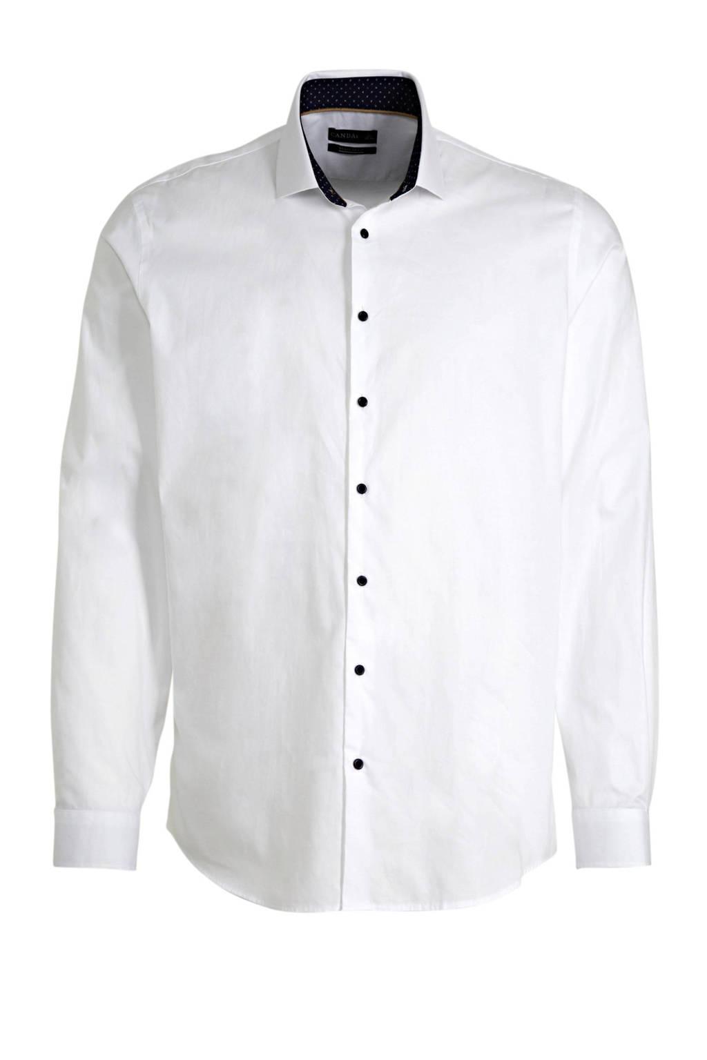 C&A Canda regular fit overhemd wit, Wit