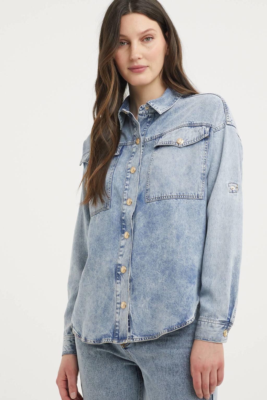 JOSH V blouse JV Mirjam blue denim, Blue denim