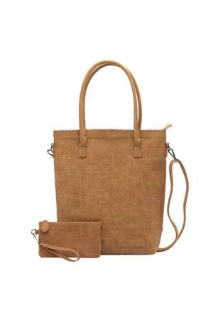 Natural Bag Kartel XL Rits Croco camel