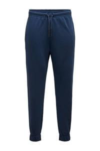 ONLY & SONS regular fit joggingbroek Ceres donkerblauw, Donkerblauw