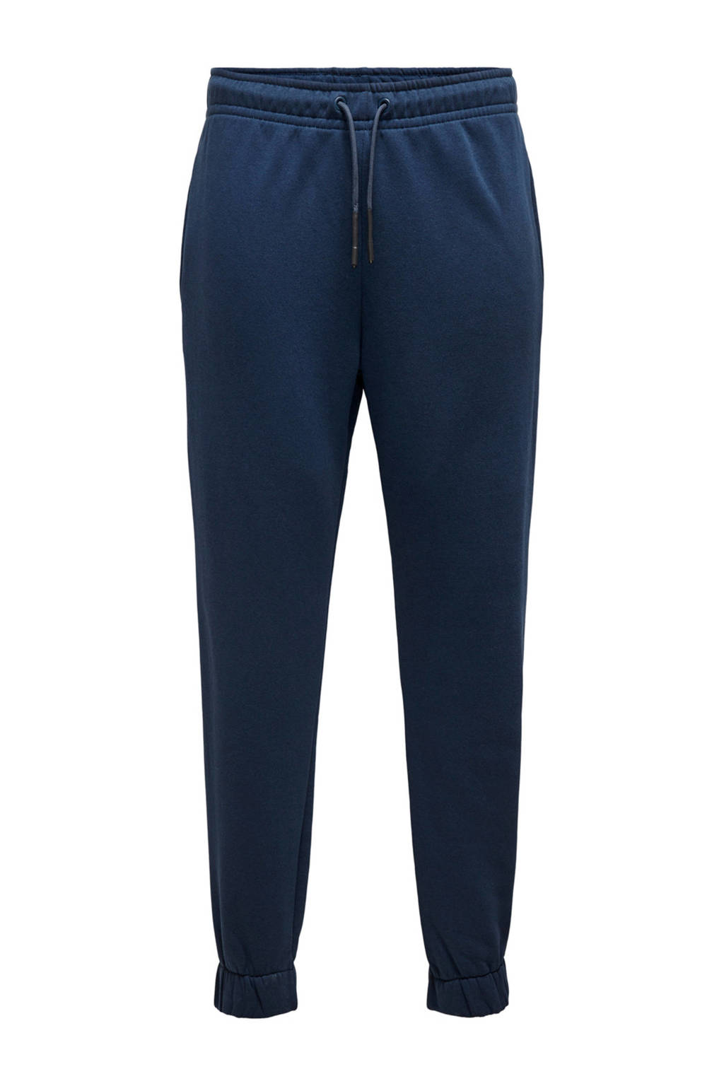 ONLY & SONS regular fit joggingbroek donkerblauw, Donkerblauw