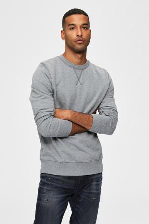 sweater van biologisch katoen grijs melange