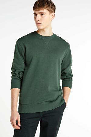 sweater van biologisch katoen donkergroen