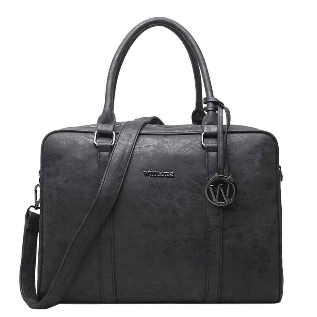 Wimona  15.6 inch laptoptas Luciana zwart, Zwart