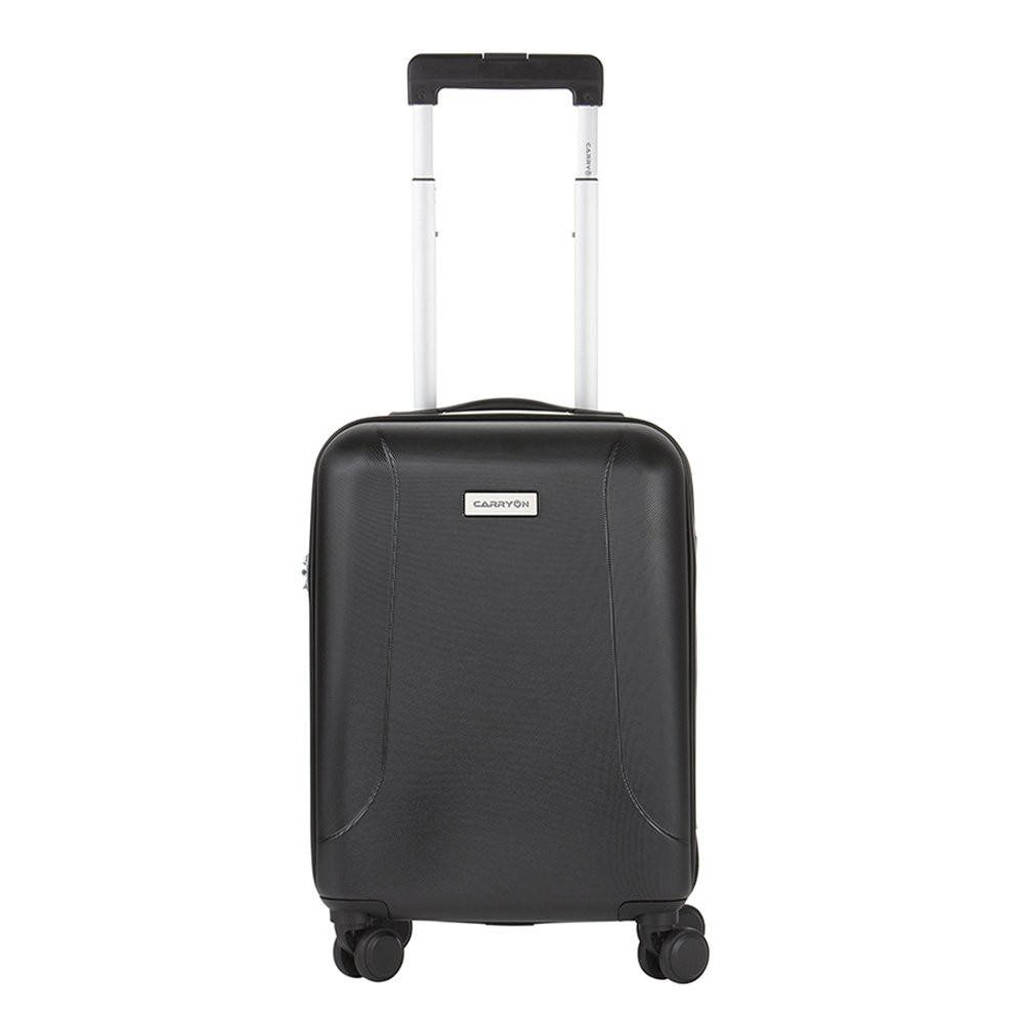 CarryOn  trolley Skyhopper 55 cm. zwart, Zwart