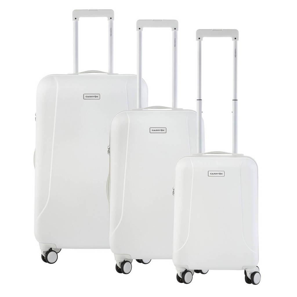 CarryOn  trolleyset Skyhopper 3 stuks wit, Wit