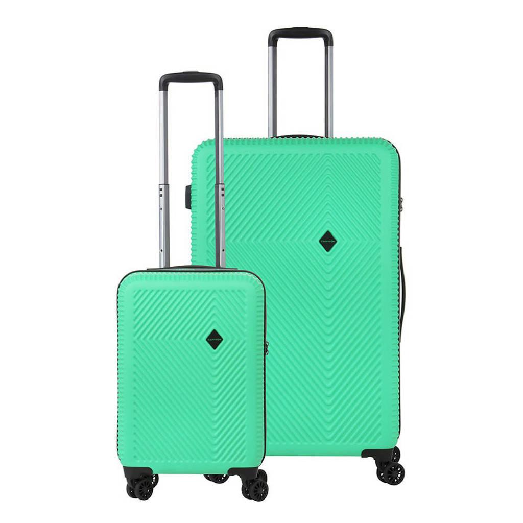 CarryOn  trolleyset Connect 2 stuks groen, Groen
