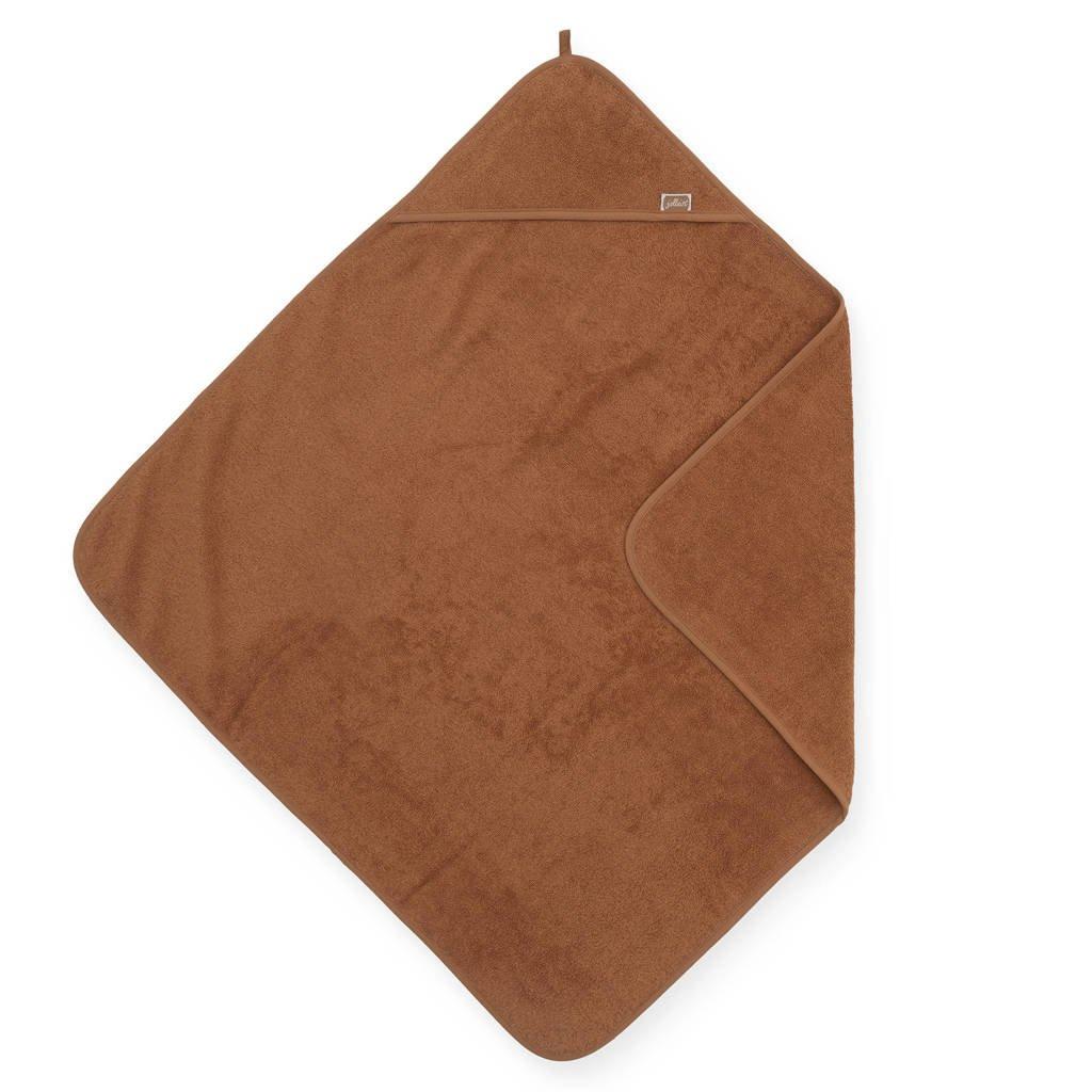 Jollein badstoffen badcape 75x75cm bruin, Bruin