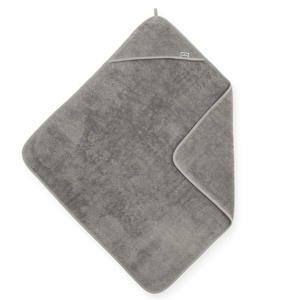 badstoffen badcape 75x75cm grijs