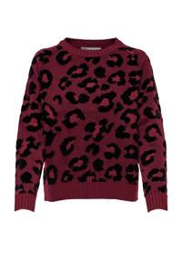 ONLY trui met all over print rood/zwart, Rood/zwart