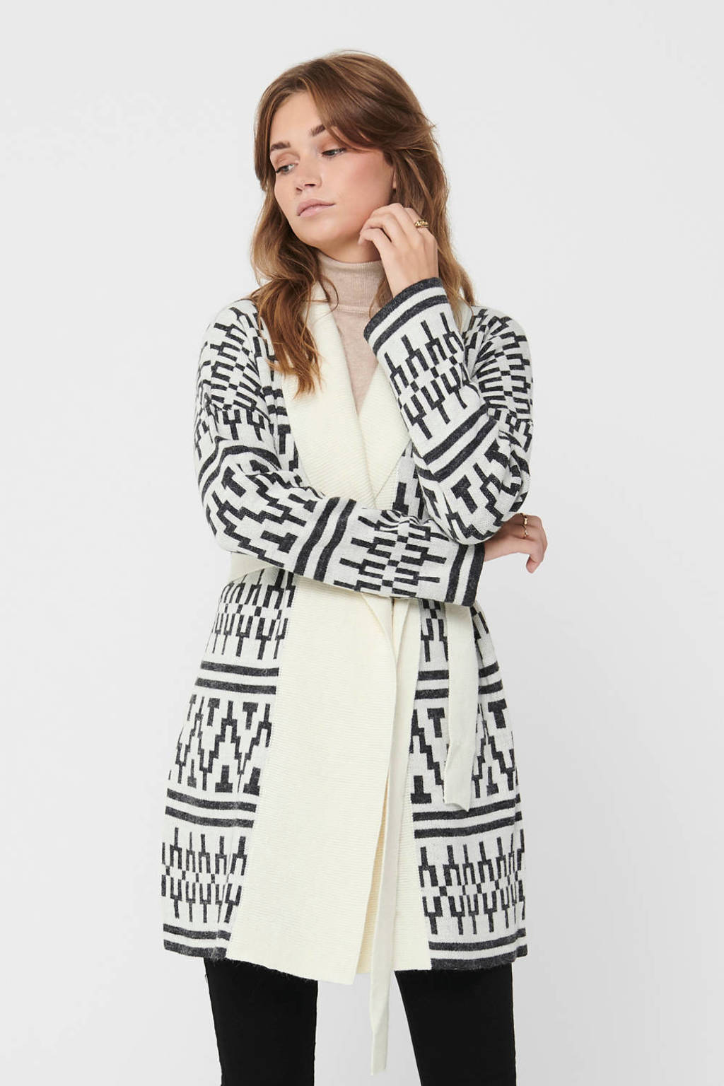 ONLY vest met all over print wit, Wit
