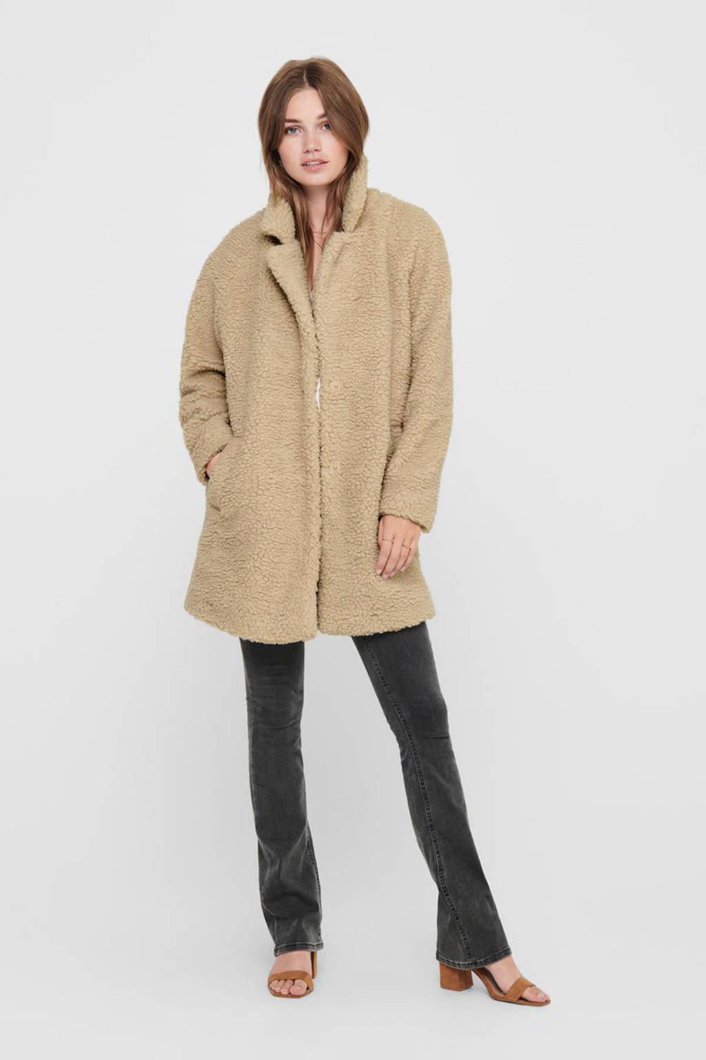 ONLY teddy coat ONLAURELIA beige, Beige