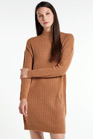 gebreide jurk Mekia bruin
