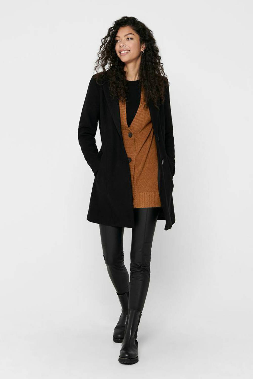 ONLY coat Carmen zwart, Zwart