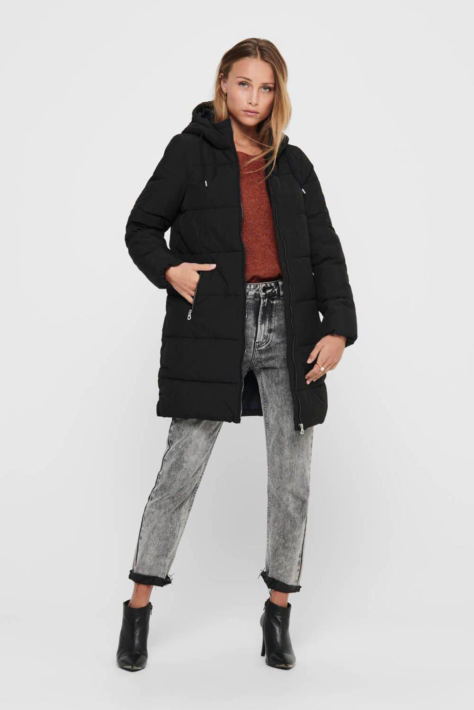 ONLY gewatteerde jas ONLDOLLY zwart, Zwart