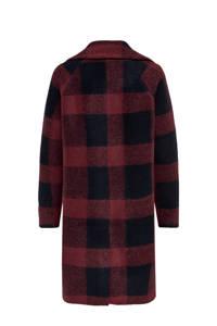ONLY geruite coat met wol paars, Paars