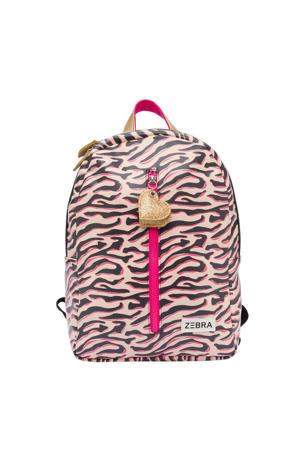 Girls Rugzak M Zebra Stripes roze
