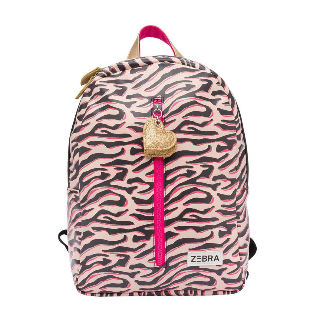Zebra Trends  rugzak Zebra Stripes M roze, Multicolor