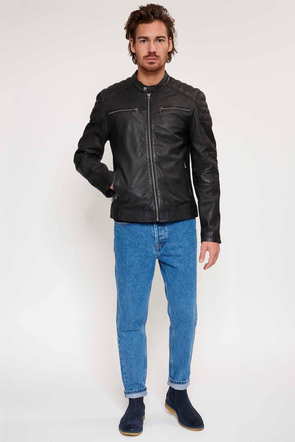 Goosecraft leren jas zwart, Zwart